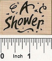 A Shower Rubber Stamp 7668D