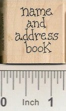 Name & Address Book Rubber Stamp 7676C