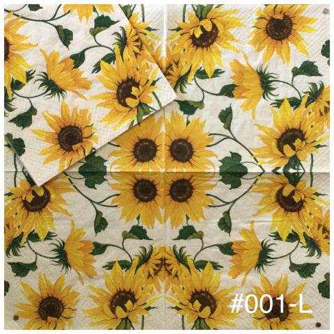 AT-001 Sunflowers Napkin for Decoupage