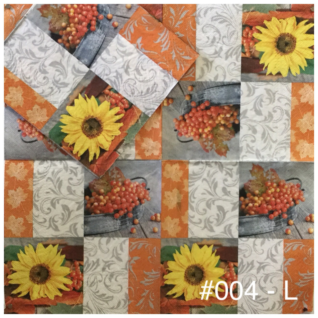 AT-004 Patchwork Napkin for Decoupage