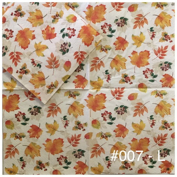 AT-007 Little Leaves Napkin for Decoupage