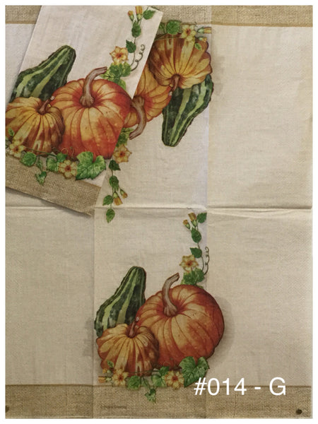 AT-014 Pumpkin Gourds Napkin for Decoupage