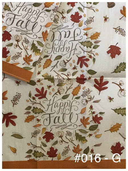 AT-016 Happy Fall Napkin for Decoupage