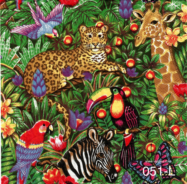 ANIM-051 Jungle Scene Napkin for Decoupage