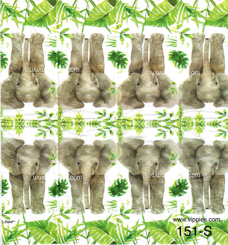 ANIM-151 Elephant Sniffer Napkin for Decoupage