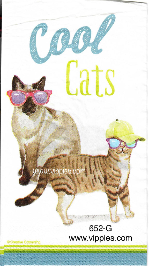 ANIM-652 Cool Cats Guest Napkin for Decoupage