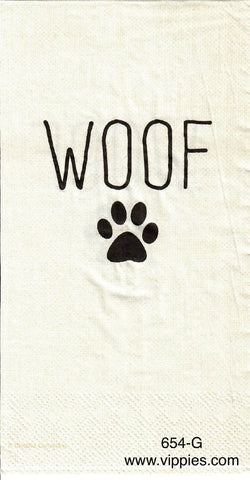 ANIM-654 WOOF Guest Napkin for Decoupage