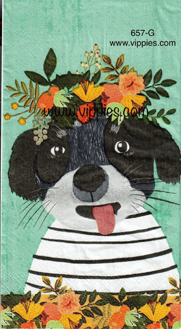 ANIM-657 Spring Puppy Guest Napkin for Decoupage