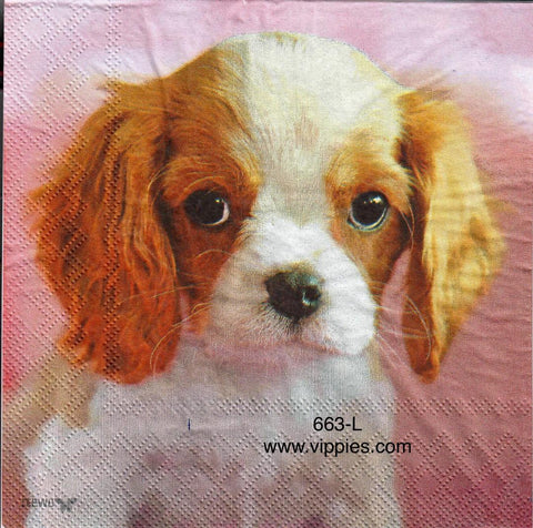 ANIM-663 Puppy Head Napkin for Decoupage