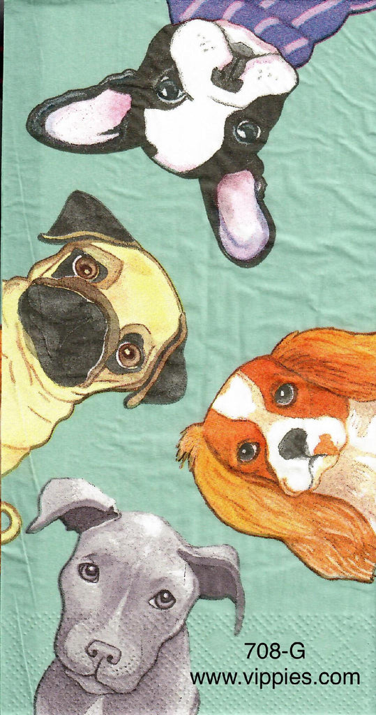 ANIM-678 Four Dogs Guest Napkin for Decoupage