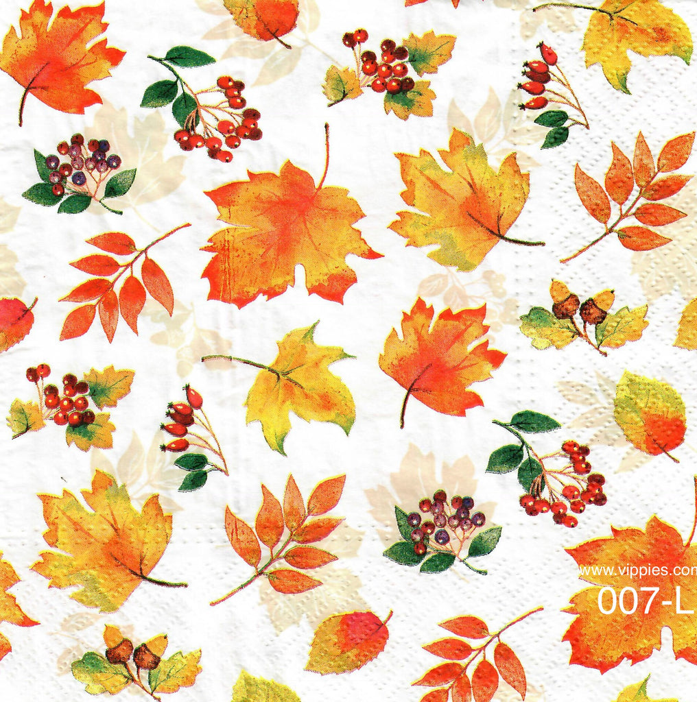 AT,007 Little Leaves Napkin for Decoupage