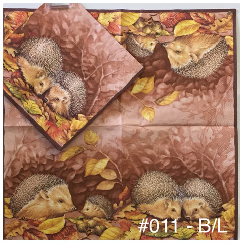 AT-011 Hedgehog Napkin for Decoupage