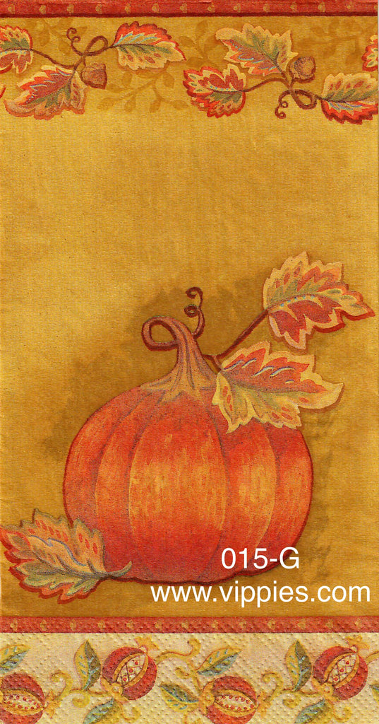 AT-015 Golden Pumpkins Napkin for Decoupage