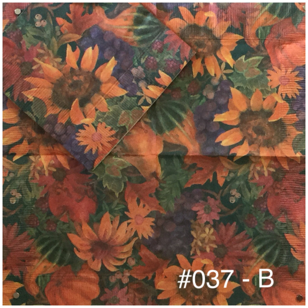 AT-037 Dark Fall Floral Napkin for Decoupage