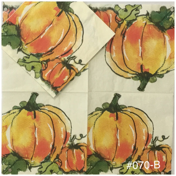 AT-070 Sketch Pumpkins Napkin for Decoupage