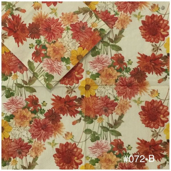 AT-072 Fall Mums Napkin for Decoupage