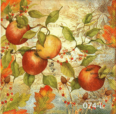 AT-074 Fall Apples Napkin for Decoupage