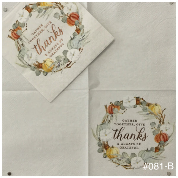 AT-081 Gather Wreath Napkin for Decoupage