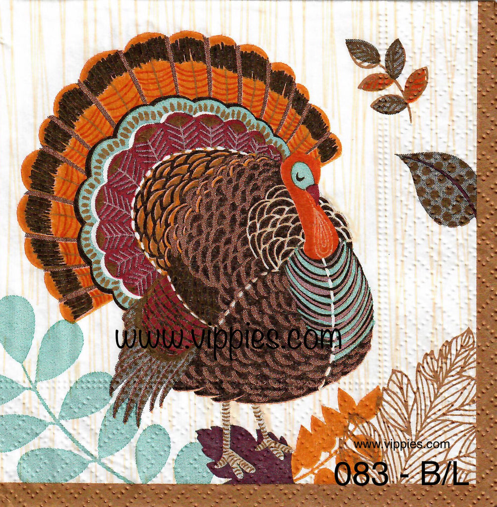 AT-083 Large Turkey Napkin for Decoupage