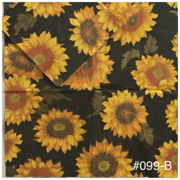 AT-099 Sunflowers Brown Napkin for Decoupage