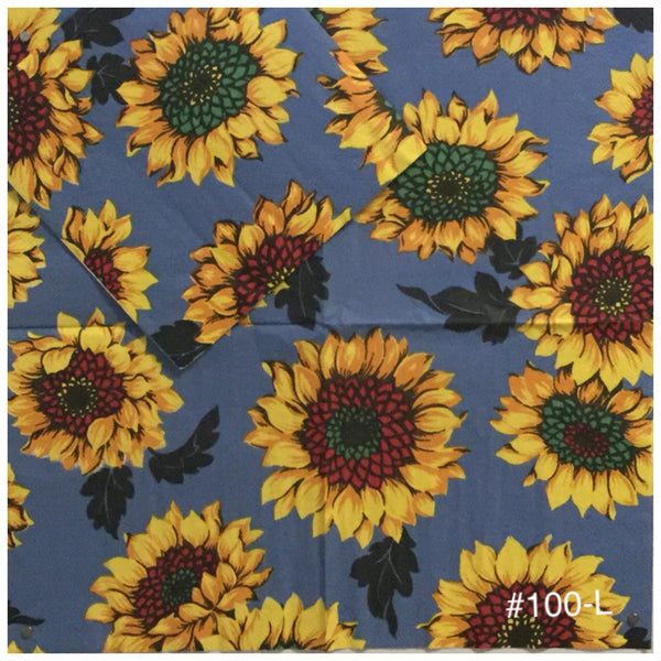 AT-100 Sunflowers Blue Napkin for Decoupage