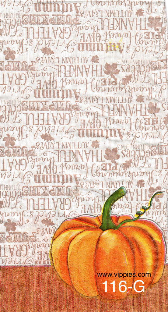 AT-116 Pumpkins Thanks Napkin for Decoupage