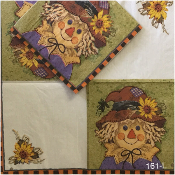 AT-161 Scarecrow Napkin for Decoupage