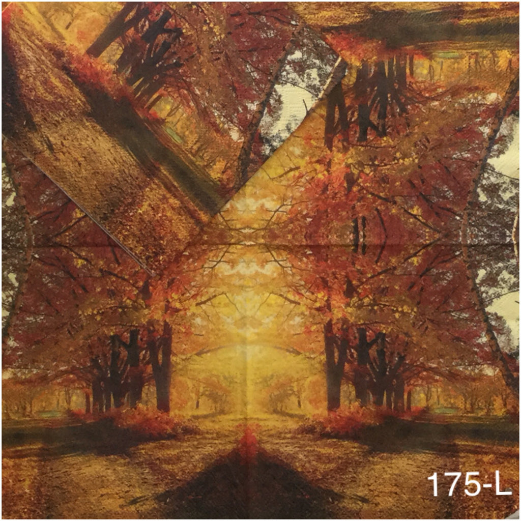 AT-175 Fall Forest Napkin for Decoupage