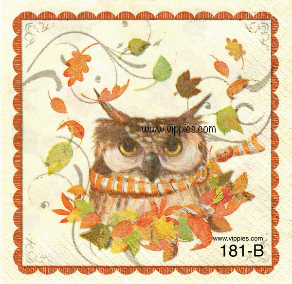 AT-181 Woodland Owl Napkin for Decoupage