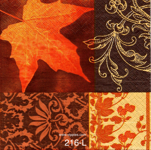 AT-216 Fall Quilt Napkin for Decoupage