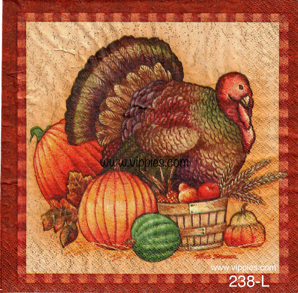AT-238 Jumbo Turkey Napkin for Decoupage