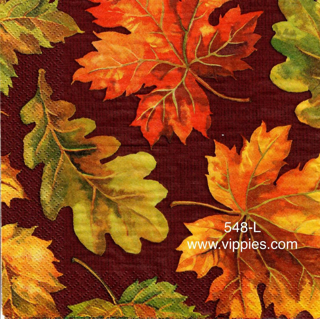 AT-548 Dark Fall Leaves Napkin for Decoupage