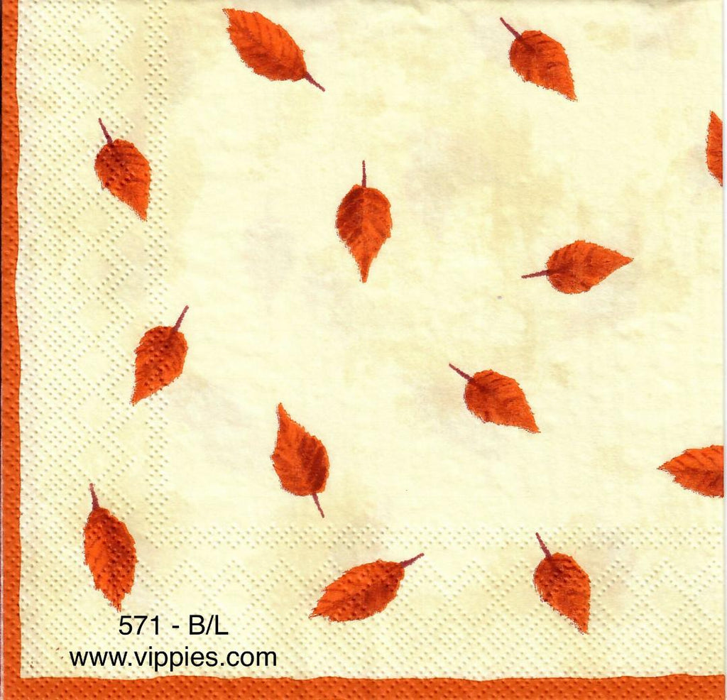 AT-571 Falling Leaves Napkin for Decoupage