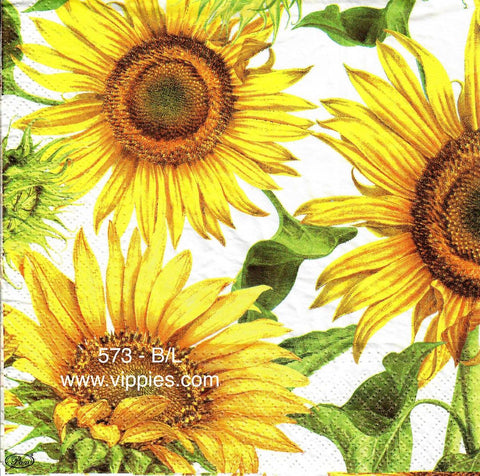 AT-573 Large Sunflower Napkin for Decoupage