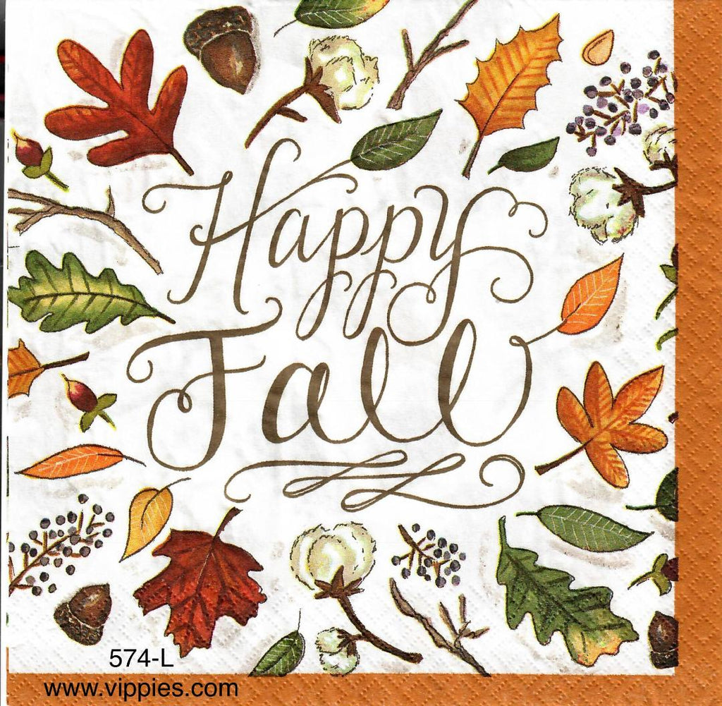 AT-574 Happy Fall Napkin for Decoupage