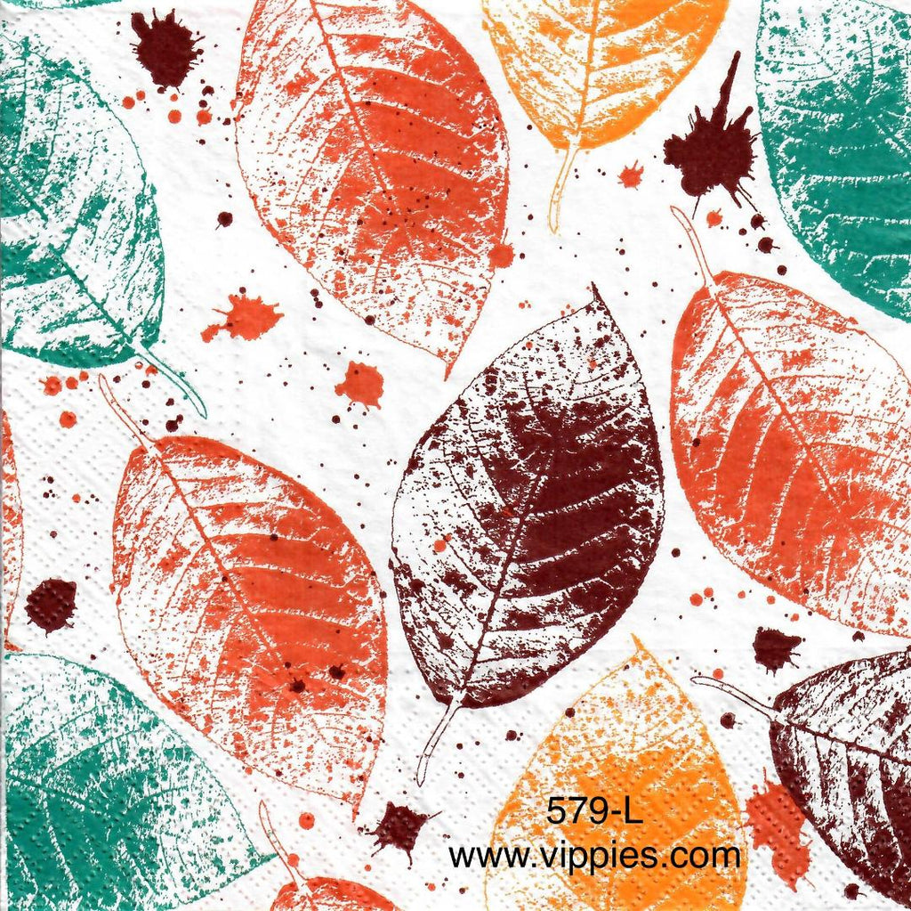 AT-579 Splatter Leaves Napkin for Decoupage