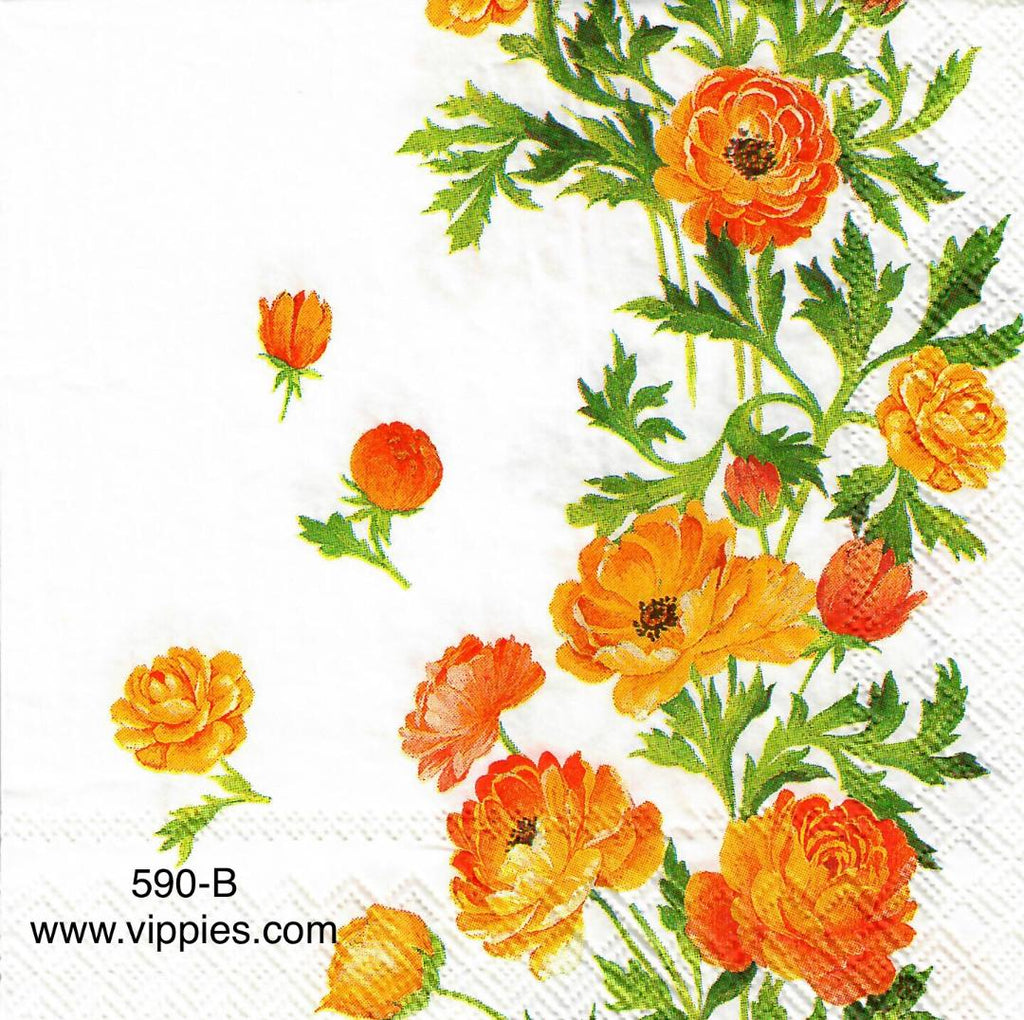 AT-590 Marigolds Napkin for Decoupage