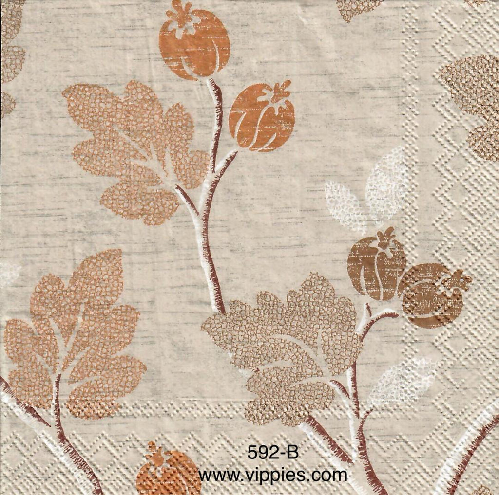 AT-592 Berries Gold Napkin for Decoupage
