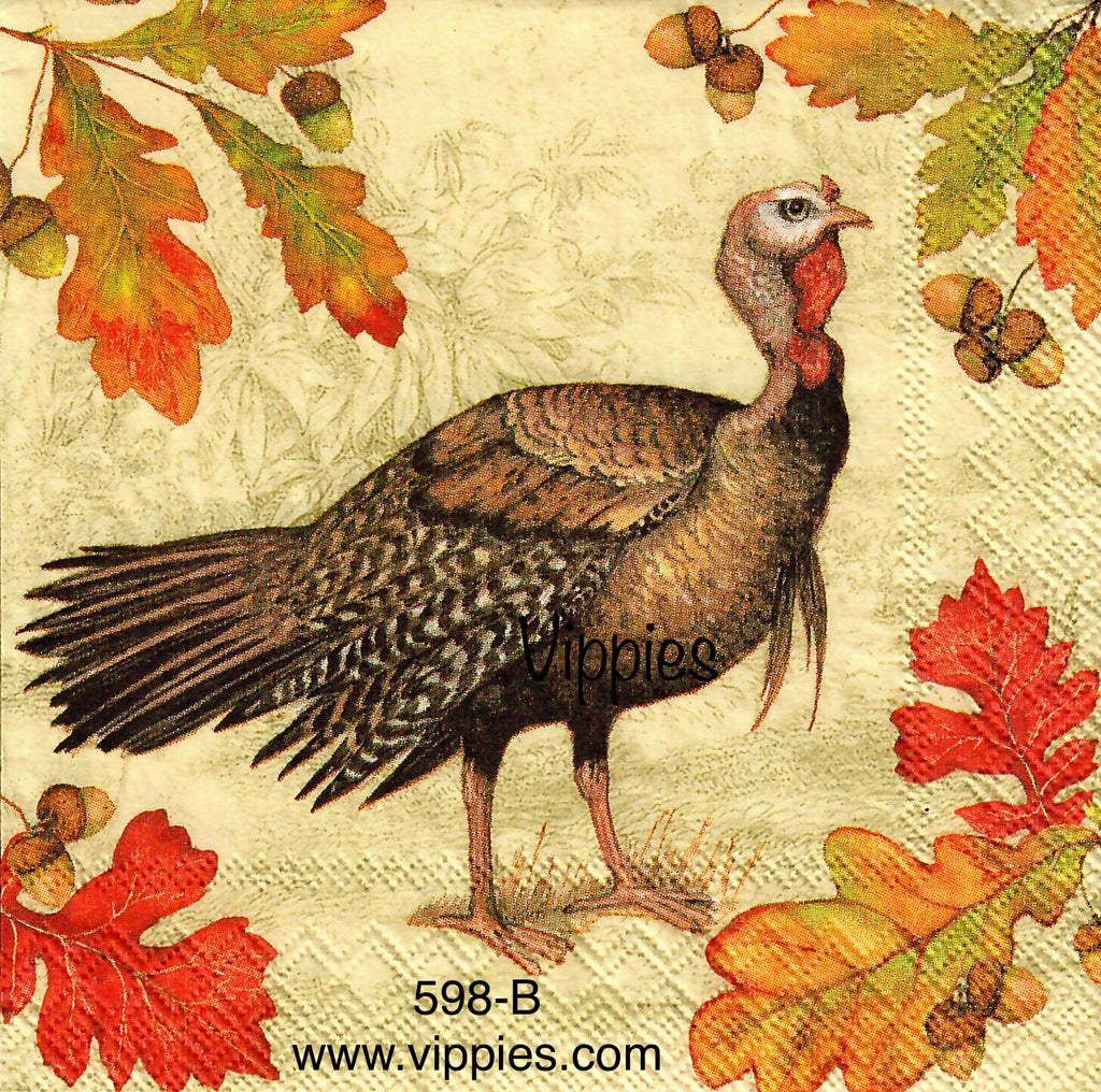 AT-598 Realistic Turkey Napkin for Decoupage