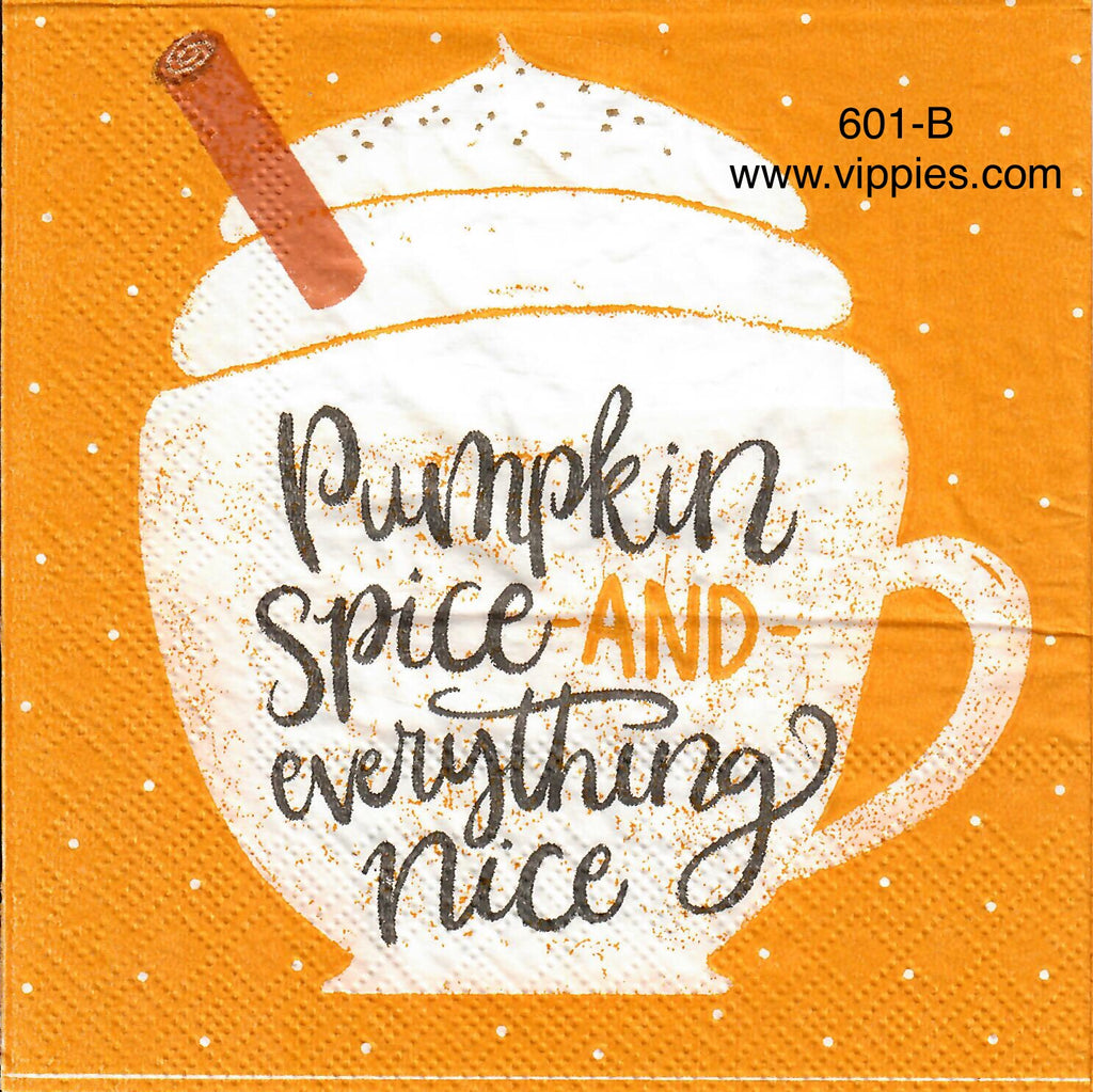 AT-601 Pumpkin Spice Napkin for Decoupage