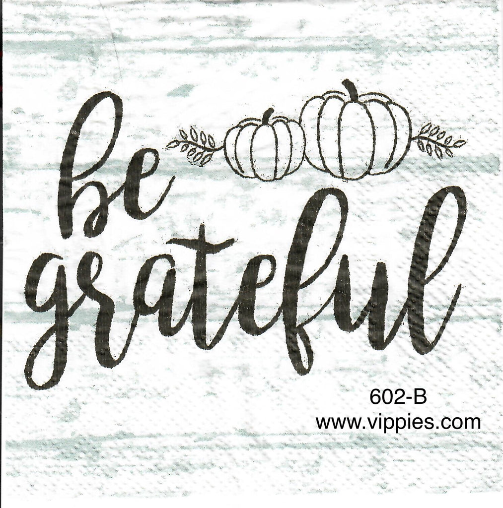 AT-602 Be Grateful Napkin for Decoupage