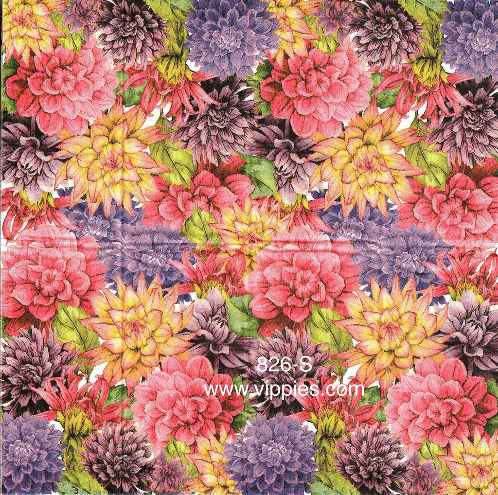 AT-826 Fall Mums Sniffer Napkin for Decoupage