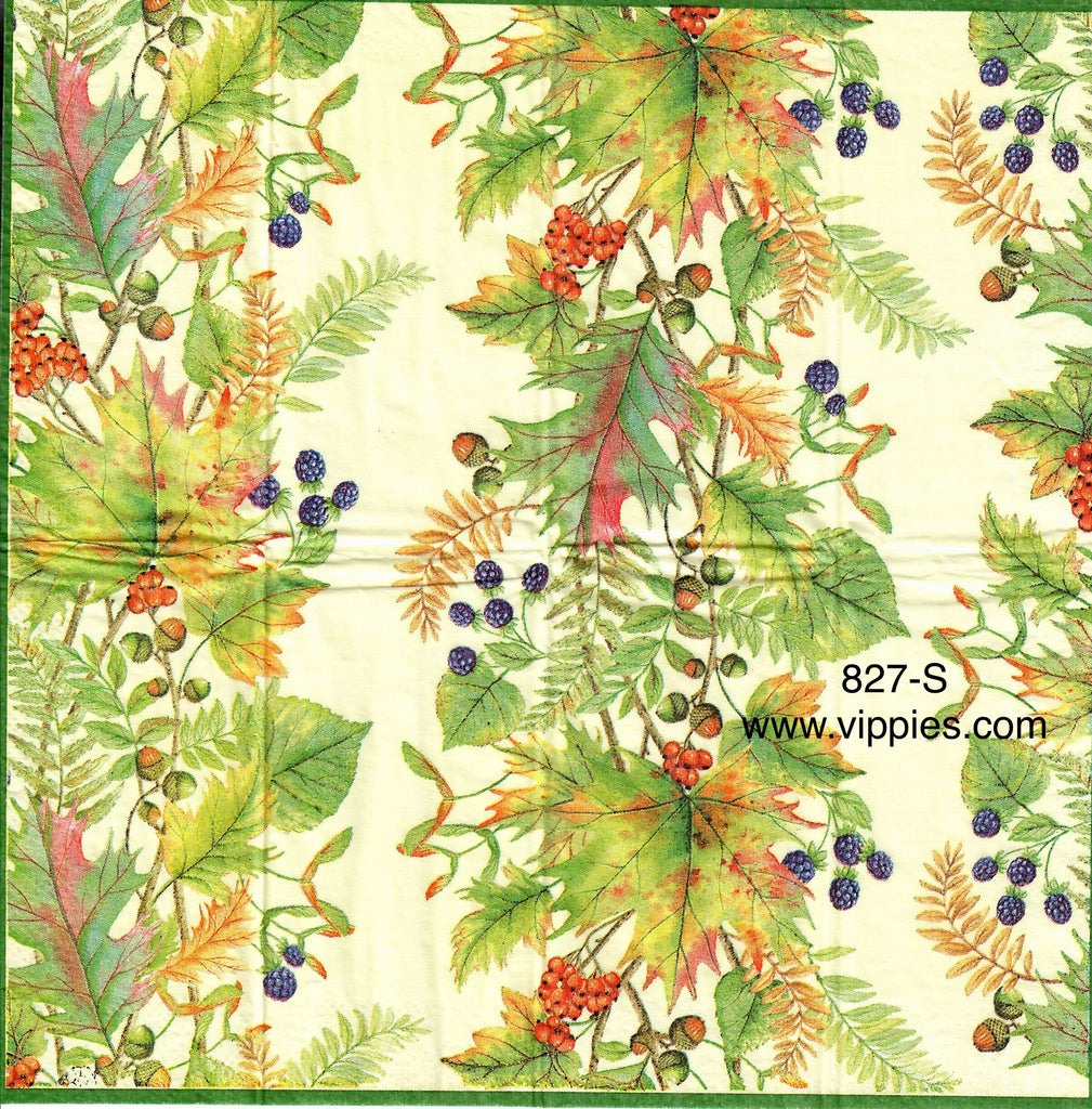 AT-827 Leaves and Berries Sniffer Napkin for Decoupage