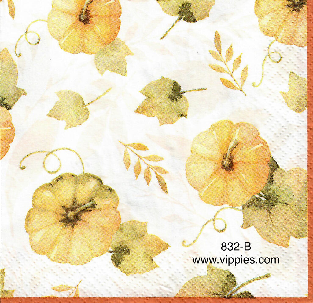 AT-832 Watercolor Pumpkins Napkin for Decoupage