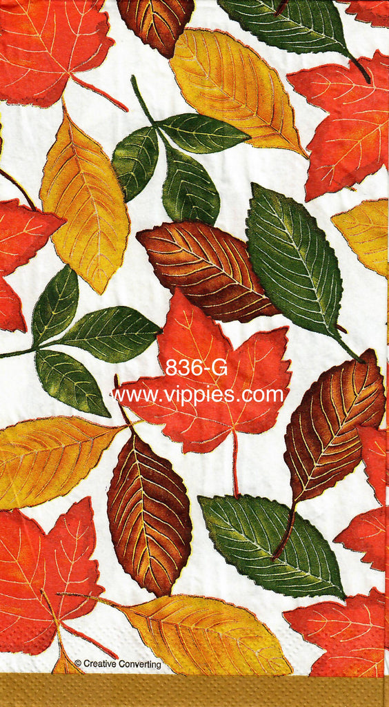 AT-836 Leaves Aplenty Guest Napkin for Decoupage