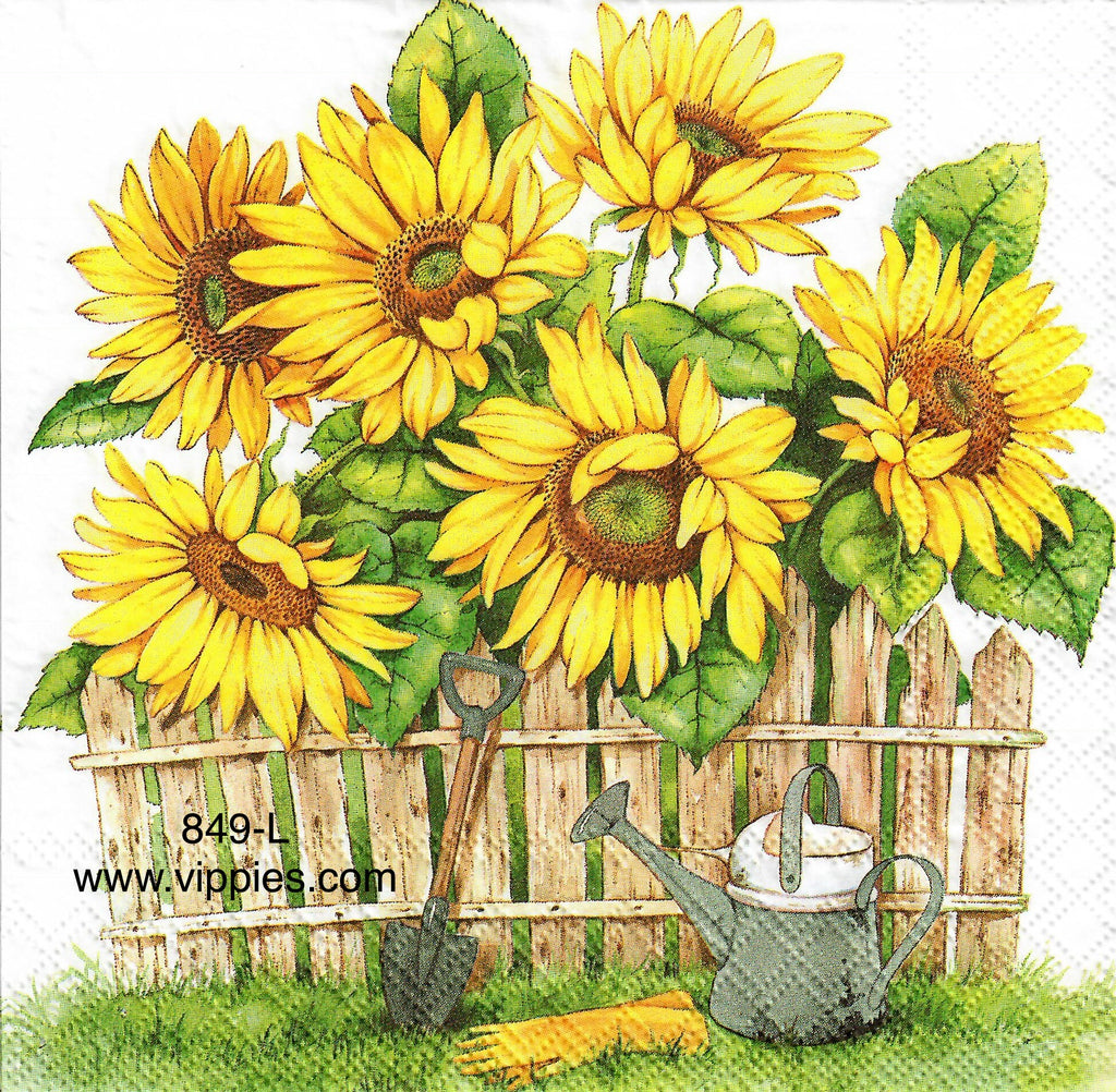 AT-849 Garden of Sunflowers Napkin for Decoupage