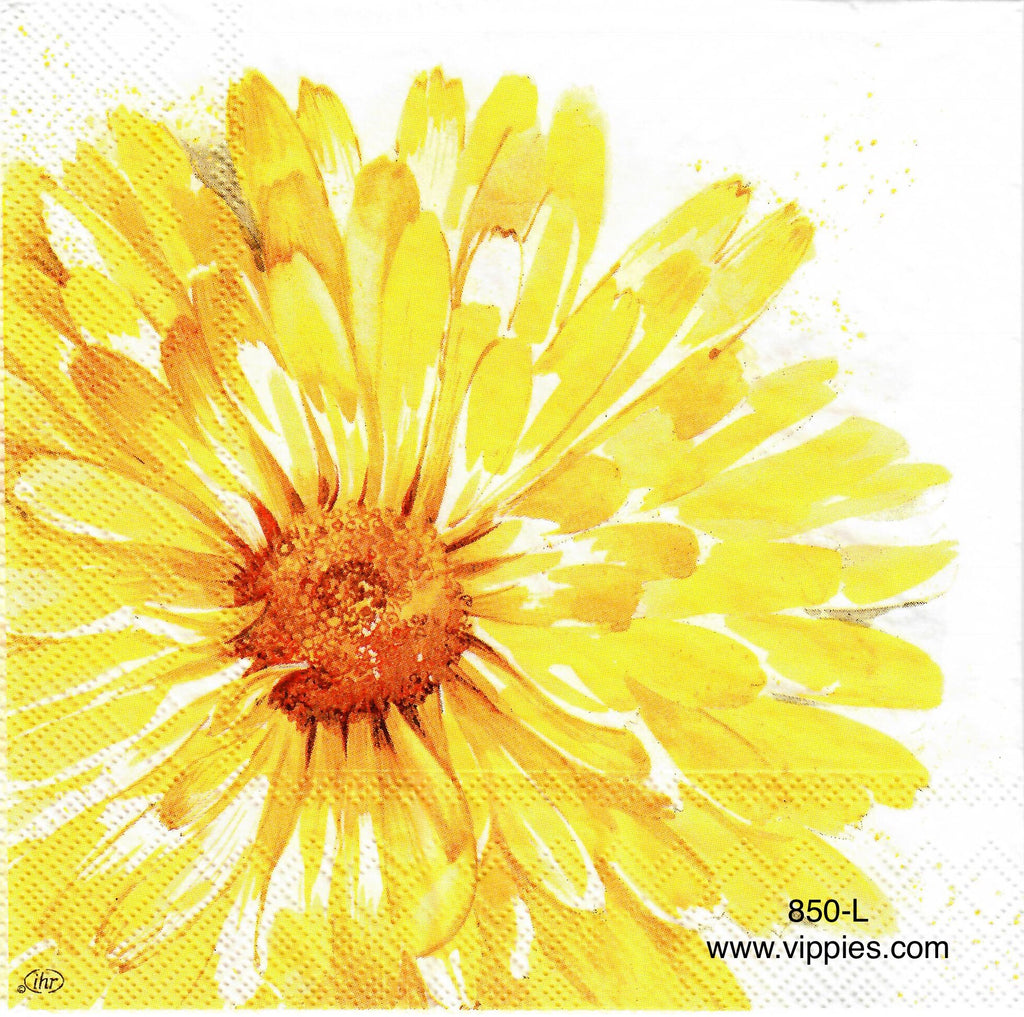 AT-850 Large Yellow Sunflower Napkin for Decoupage