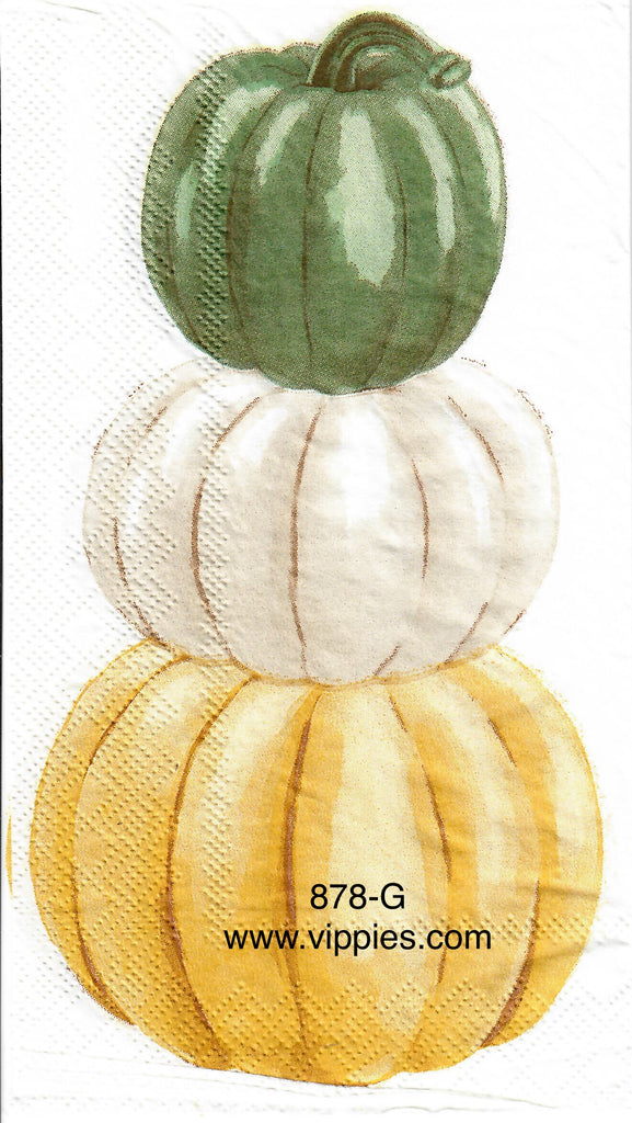 AT-878 Stacked Pumpkins Guest Napkin for Decoupage