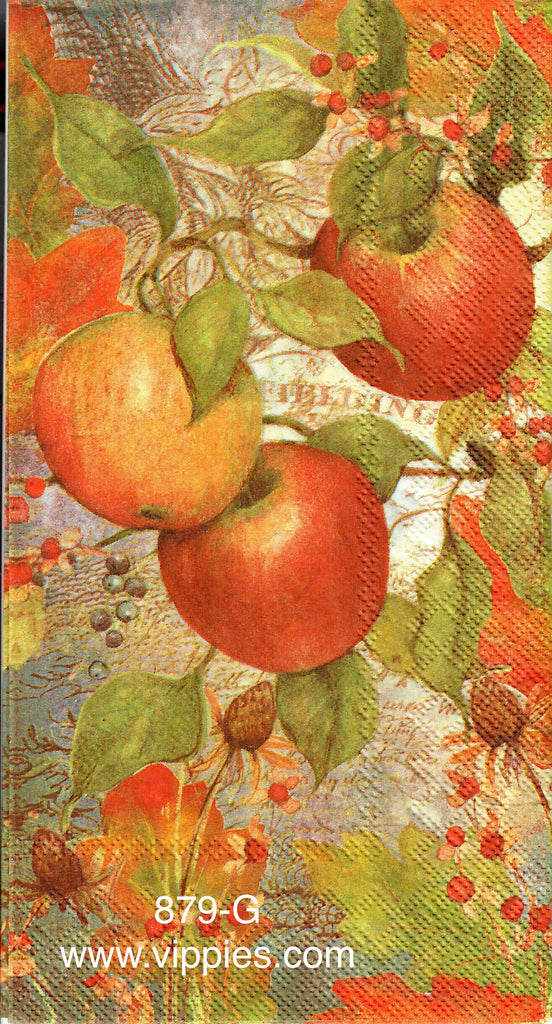 AT-879 Fall Apples Guest Napkin for Decoupage