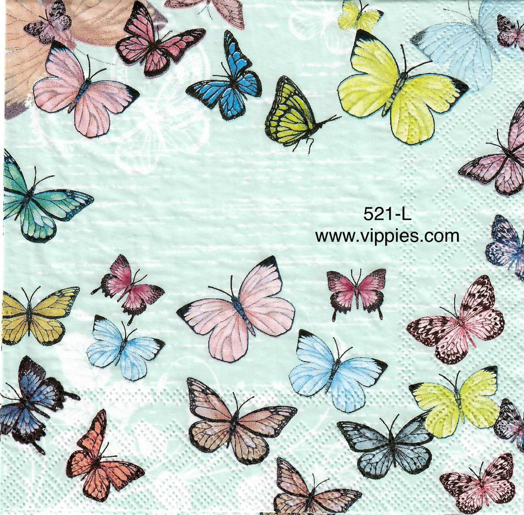 BB-521 Pastel Butterflies Napkin for Decoupage